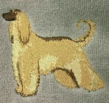 Afghan Hound Mens Polo Shirt 100% Cotton Pique Embroidered Large Sand
