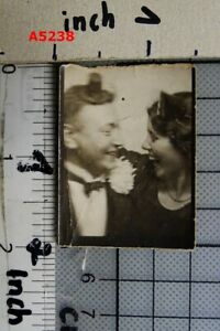 1930s VINTAGE PHOTOBOOTH SNAPSHOT of LAUGHING COUPLE