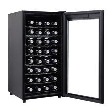 32 Bottles Wine Cooler Fridge Cellar Storage Holder Chiller Bar Rack Cabinet