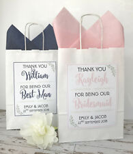PERSONALISED WEDDING FAVOUR GIFT BAG | PARTY BAG | THANK YOU BAG | LAUREL WHITE