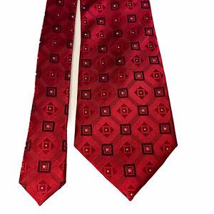 DONALD TRUMP President Signature Collection Silk Necktie Tie Gold Bar Geometric