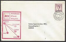 BEA Trident First Flight cover 1964 London to Zurich