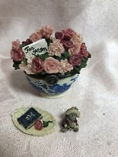 Boyds Treasure Box Bearlove's Flower Bouquet with Momma & Baby McNibble
