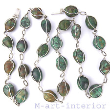 Taxco Mexico Argent Collier Collier Gemme Turquoise Mexico silver necklace
