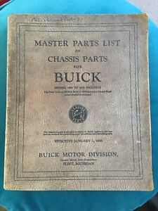Buick Motor Division Master Chassis Parts List Catalogue Book 1928 - 1939