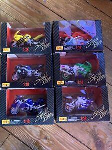 maisto 1/18 special edition motorbikes bundle