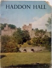 Vintage 1970s Souvenir Tourist Guide Haddon Hall Derbyshire UK Stately Home