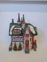 "DEPT 56 NORTH POLE SERIES ""SANTA'S LIGHT SHOP"" LIGHTED W/BOX & CORD"