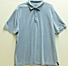 NAT NAST Mens Original Luxury Short Sleeve Polo Golf Shirt Size 2XL Light Blue