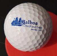Vintage Advertising Premium Logo Golf Ball Balboa Thrift & Loan Nike Preowned