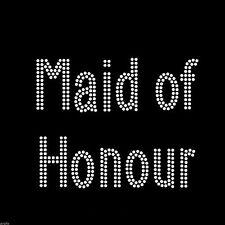 Cristal de Estrás En Hierro T Shirt Diseño-Doble línea Maid Of Honor