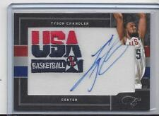 TYSON CHANDLER 2011 BOWMAN BLACK BOX USA BASKETBALL PATCH ON CARD AUTO #D 12/25