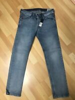 NWD Mens Diesel BELTHER STRETCH RIP Denim 0854Y BLUE SLIM W32 L30 H6 RRP£140