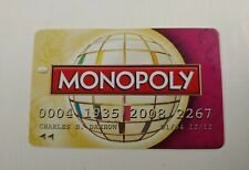 2008 MONOPOLY Here & Now The World Edition Replacement Credit Card Purple