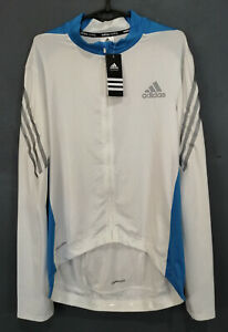 NEW MEN'S LONG SLEEVE ADIDAS CYCLING CYCLISMO SHIRT JERSEY MAILLOT MAGLIA SIZE L