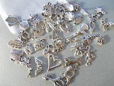 Confezione DI 50 misti selezione casuale di colore argento tibetano METALLO CHARMS / CIONDOLI