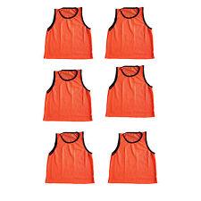 Set of 6 Scrimmage Vests Pinnies Soccer Adult Orange ~ New!