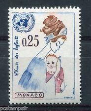 MONACO 1963, timbre 603, CHARTE DES ENFANTS, EMBLEME NATIONS UNIES, neuf**, MNH