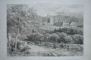 BALMORAL CASTLE ALEX HERMAN HAIG ANTIQUE ETCHING ART JOURNAL J.S VIRTUE 1901