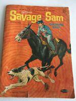DISNEY coloring book SAVAGE SAM movie 1963, 96pg Used