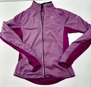 Nike Dri Fit Womens Full Zip Lightweight Jacket W/phone pocket size Medium EUC