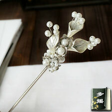 HAND MADE Prestige hair stick Lily Asian Style hair pin Pearl COSPLAY Wedding