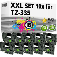 10x Farbband kompatibel Brother P-Touch PT E100 1010 1230 H100R H300 D200 TZ-335