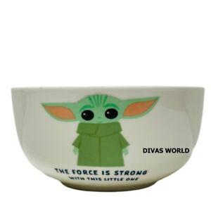 Star Wars Baby Yoda Mandalorian The Child Cereal Bowl Kids Breakfast Dish GIFT