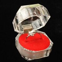 Earrings Boxes Ring Box Transparent Octagonal Necklace Gift Jewelry Boxes