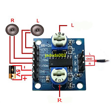 1ps PAM8406 2.5~5V 2*5W Digital amplifier board With volume potentiometer Stereo