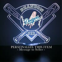 Los Angeles Dodgers MLB Baseball Personalized Gift Light Up 3D Illusion LED