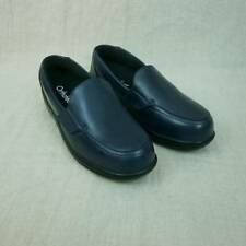 Orthofeet Astoria Navy Leather Therapeutic Comfort Women's 11 B Loafers Slip On