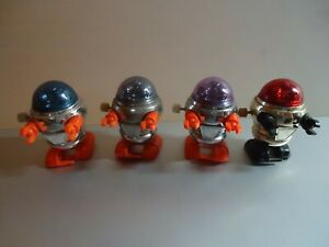 4 Vintage Tomy Rascal Robot Wind Up Space Toys Lot #2