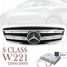 Gloss Black Front Mesh Grille AMG Style for Mercedes-Benz S Class W221 2006-2009
