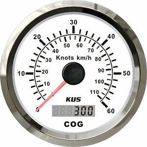110 km/h KUS GPS Speedometer Boat Marine Truck Analogue Speed Gauge 0-60 Knots
