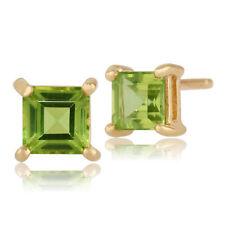 Orecchini di lusso con gemme verde oro giallo peridoto