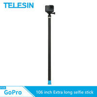TELESIN Extra long Carbon Fiber selfie stick For Gopro Hero 8 7 6 5 SJCAM YI 4K