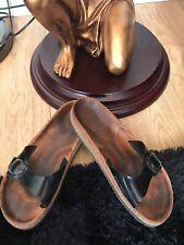 Birkenstock Flip Flops Sandals Black Size 6