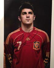 David Villa - Spain Football Legend - Barcelona - Hand Signed 10x8 Photo