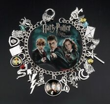 NEW Harry Potter Silver Plated Charm Bracelet #2 - Perfect Gift for Christmas