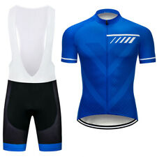 Men's Pro Blue Cycling Jersey Bib Shorts Kits Short Sleeve Shirt Pad shorts Set