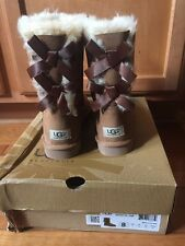 UGG Australia NIB Size 8 Chestnut Bailey Bow