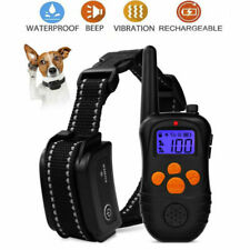 Training Waterproof Remote Pet Black Rechargeable 300m Electric Dog Shock Collar