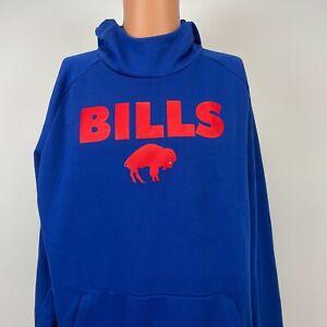 Nike Buffalo Bills Dri Fit Hoodie Sweatshirt NFL Football Blue Size XL
