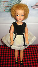 1963 IDEAL VINTAGE~TAMMY FAMILY~1st ISSUE PEPPER DOLL~#1~PARTY TIME~LEMON BLONDE