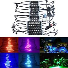 20pcs RGB Color LED Motorcycle Knight Rider Ground Effect Lights Kit w/ Remote
