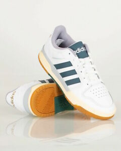 Adidas Scarpe Sportive Sneakers ENTRAP Uomo Bianco Verde pelle