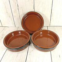 Flan Creme Brulee Dipping Dishes Cermer Spain Terracotta Ramekin Set of 3