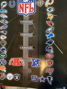 National Football League NFL Team Poster NEW Old Stock