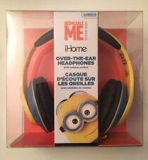 Despicable Me Minion Made iHome Over the Ear Headphones Built-in Microphone